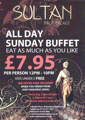 All Day Sunday Special Buffet